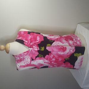 Karl Lagerfeld sash neck floral top